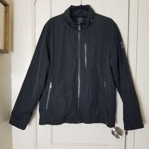 TECH BY TUMI black hood zipper jacket